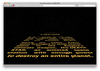 Guillee Im Done Star Wars Opening Crawl